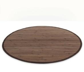 Mata bambusowa okrągła dywanik bambusowy 200cm  ciemny brąz