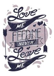 Plakat kochaj mnie