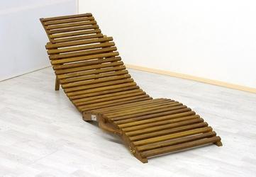 Wyłączony leżak drewniany, krzesło z drewna akacjowego