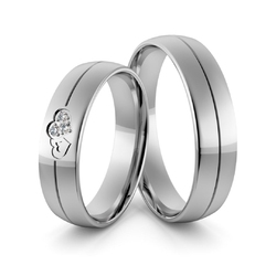 Obrączki srebrne z splecionymi sercami i cyrkoniami swarovski - wzór ag-359
