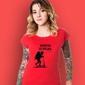 Marzenia się spełnia - chłopczyk t-shirt damski czerwony m