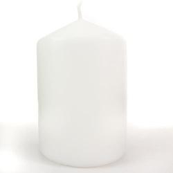 Biała świeca ozdobna - walec 100150 mm - 100150