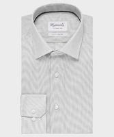 Elegancka szara koszula ze splotem oxford michaelis z kołnierzem klasycznym 37