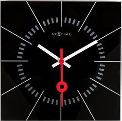 Zegar ścienny stazione czarny