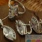 Srebrny komplet z kryształem orco