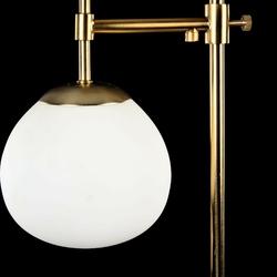 Lampka stołowa biała kula na prostej podstawie erich maytoni modern mod221-tl-01-g