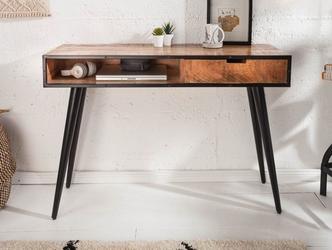 Drewniane biurko industrial w stylu retro 120 cm