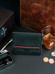 Skórzany czarny portfel męski rfid pierre andreus n31892 - czarny