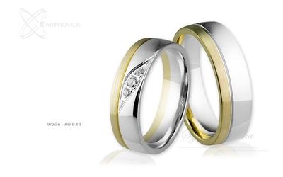 Obrączki ślubne - wzór au-843
