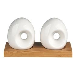 Zestaw do przypraw  solniczka i pieprzniczka na podstawie bambusowej porcelana altom design regular, komplet 2 przyprawników