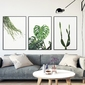 Zestaw trzech plakatów - plant design , wymiary - 20cm x 30cm 3 sztuki, kolor ramki - czarny