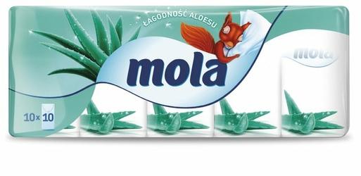 Mola Aloes, chusteczki higieniczne, 10 sztuk