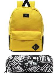 Plecak szkolny Vans Old Skool III - VN0A3I6RD2P yellow + Piórnik Vans