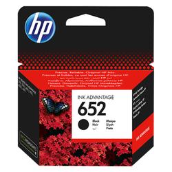 Oryginalny wkład atramentowy HP 652 Ink Advantage, czarny