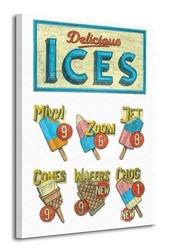 Delicious ices - obraz na płótnie