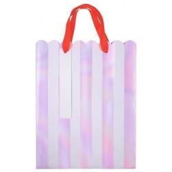 Meri meri - torebki upominkowe paski opalizujące