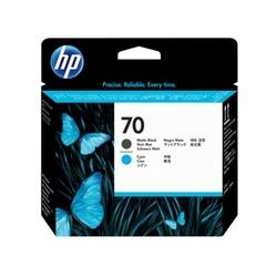 Hp 70 głowica drukująca: czarny matowy i błękitny