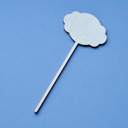 Drewniana tabliczka na patyku 14x6 cm chmurka - 04