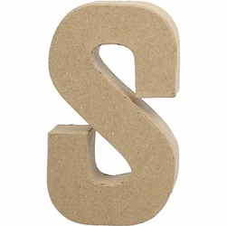 Litera z papier mache 20,5x2,5 cm - S - S