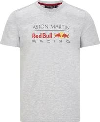 Koszulka red bull racing f1 logo szara - szary