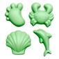 Silikonowe foremki do piasku, zielone 4 szt., scrunch