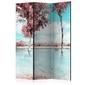 Parawan 3-częściowy - jesienny krajobraz room dividers