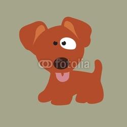 Fotoboard na płycie wierny ilustracja szczeniak