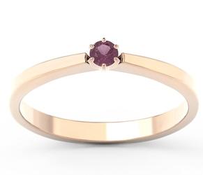Pierścionek z różowego i białego złota z rubinem cp-2410pb - wysyłka w następny dzień roboczy - sprawdź dostępność