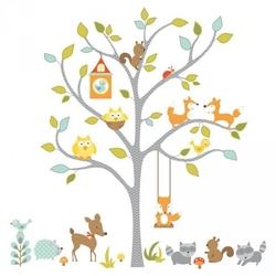 Naklejki leśne drzewko i zwierzątka
