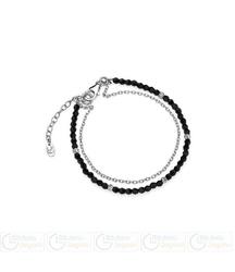 Fc bransoletka 2bs630 czarny kryształ + srebro