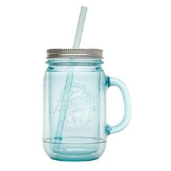 Kubek do zimnych napojów ze słomką 0,47 l, błękitny aladdin