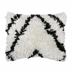 HK Living :: Kudłata poduszka czarno-biała - HK Living
