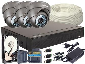 Zestaw 4w1, 3x kamera full hdir20, rejestrator 4ch, hdd 1tb - szybka dostawa lub możliwość odbioru w 39 miastach