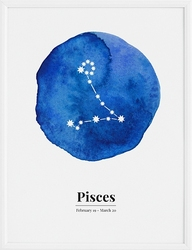 Plakat Pisces 21 x 30 cm