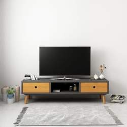 Vidaxl szafka pod tv, szara, 120 x 35 x 35 cm, lite drewno sosnowe