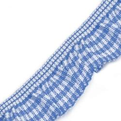 Gumka z falbanką w kratkę 20mm1m - niebieski - NIE