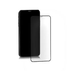 Qoltec Hybrydowe szkło ochronne do iPhone Xs Max | czarne | pełne