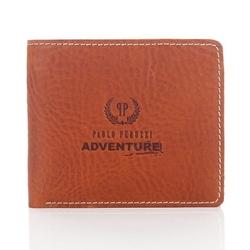 Brązowy portfel męski paolo peruzzi adventure