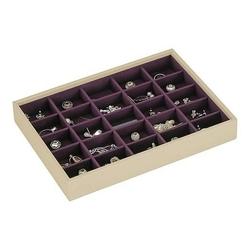Pudełko na biżuterię 25 komorowe classic Stackers kremowo-fioletowe