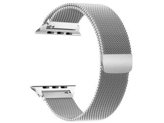 Bransoleta milanese pasek alogy do apple watch 12345 4244mm srebrna - srebrny