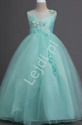Tiulowa sukienka dla dziewczynki w kolorze miętowym 708