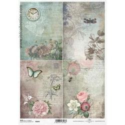 Papier ryżowy ITD A4 R1064 kwiaty