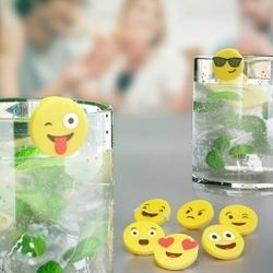 Znaczniki emoji do szklanek