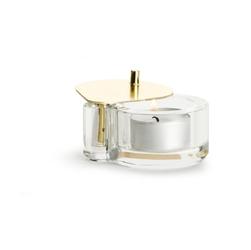 Kryształowy świecznik na tealight złoty Winter Sagaform