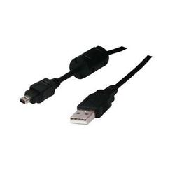 Kabel USB 2.0, USB A  M- 4 pin M, 1.8m, czarny, FUJI