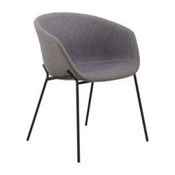 Krzesło zin 76x54 cm szare
