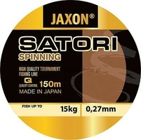 Żyłka sinningowa JAXON SATORI Spinning jasnoszara przezroczysta 0,22mm 11kg 150m