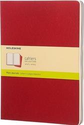 Zeszyty moleskine cahier journals xl 3 szt. gładkie czerwone