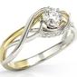 Pierścionek z białego i żółtego złota z brylantami bp-7130bz - białe i żółte  diament