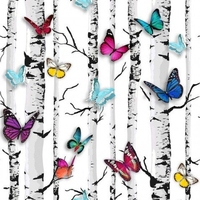 Tapeta muriva 102529 jet setter motyle drzewa